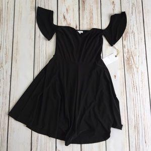 Leith black off the shoulder dress